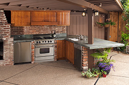 outdoor kitchen design ideas wood burning design an outdoor kitchen living spaces raleigh durham cary